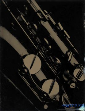 wet collodion on aluminum print of saxophone detail