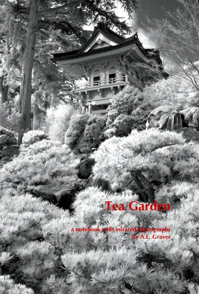 cover of the Tea and Garden Notebook with infrared photographs by A.E. Graves
