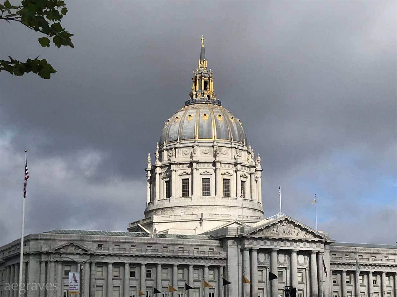 SF City Hall with Dome in Sunlight