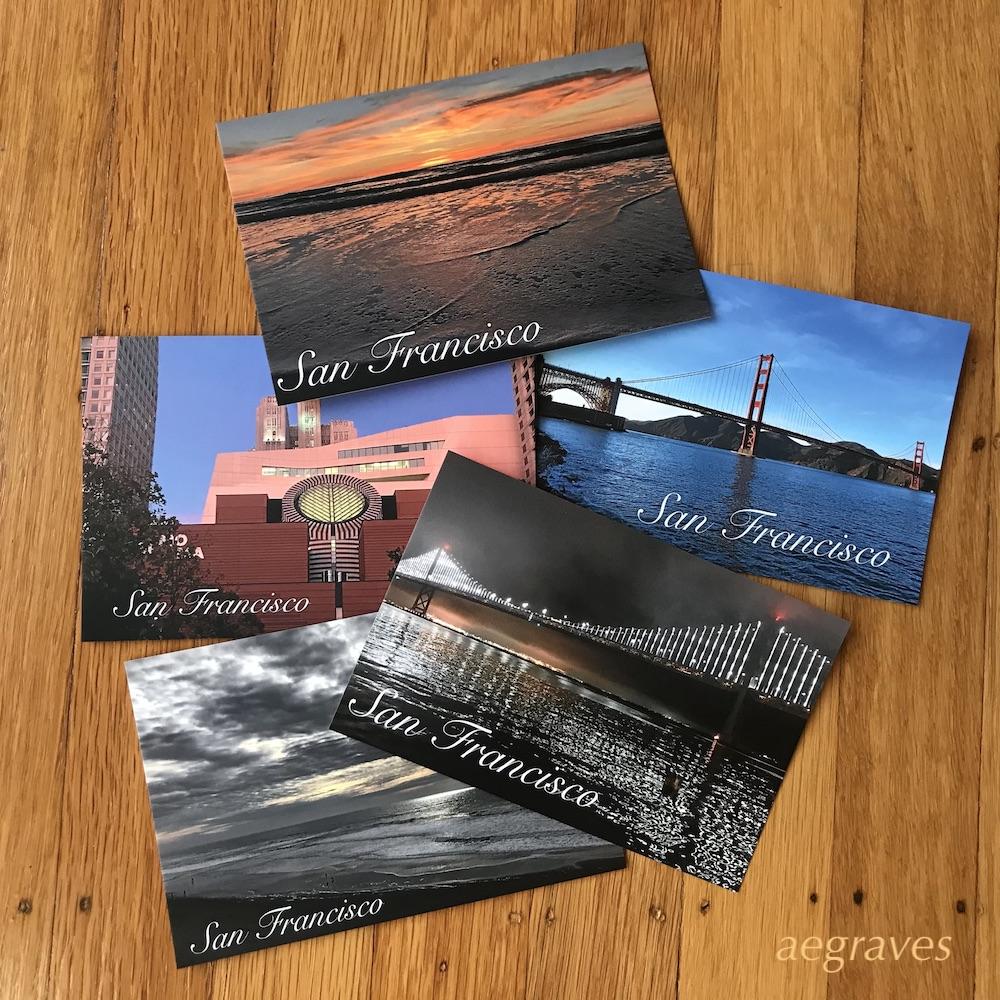 2019 A.E. Graves postcard samples